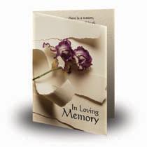 Folded Memorial Cards