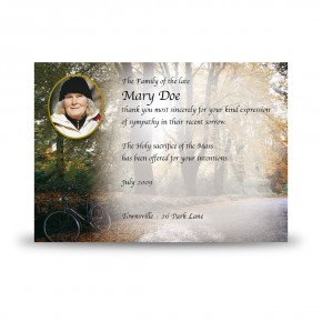 Autumn Lane Acknowledgement Card