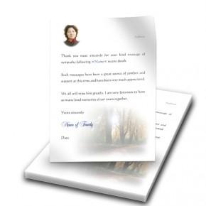 Autumn Lane Thank You Letter