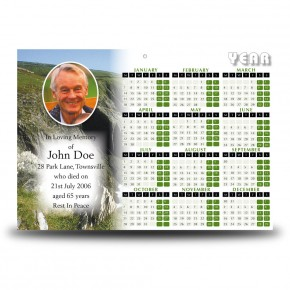 Coastline Co Antrim Calendar Single Page