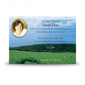 Country Field of Kerry Acknowledgement Card