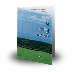 Country Field of Kerry Folded Memorial Card
