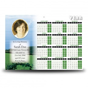 Country Field of Kerry Calendar Single Page