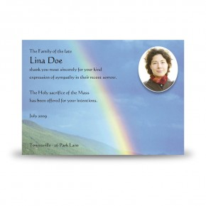 Rainbow Co Leitrim Acknowledgement Card