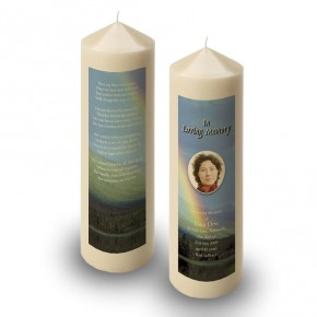 Rainbow Co Leitrim Candle