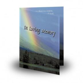 Rainbow Co Leitrim Folded Memorial Card