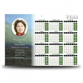 Rainbow Co Leitrim Calendar Single Page