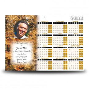 Autumn Scene Calendar Single Page
