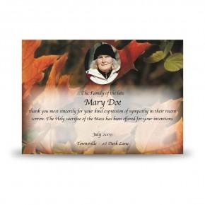Autumn Leaves Acknowledgement Card