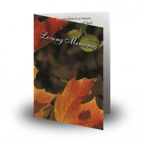 Autumn Leaves Folded Memorial Card