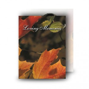 Autumn Leaves Standard Memorial Card