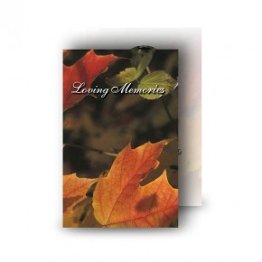 Autumn Leaves Wallet Card