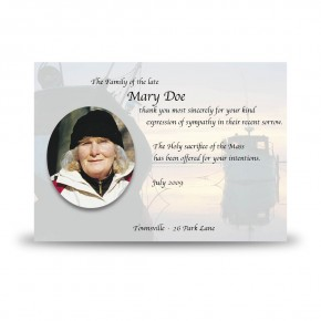Boats at Sunset Co Waterford Acknowledgement Card