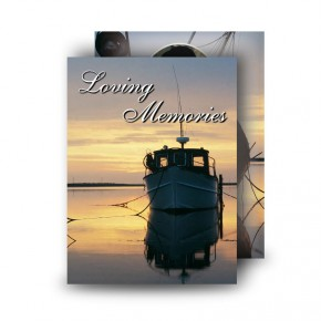 Boats at Sunset Co Waterford Standard Memorial Card