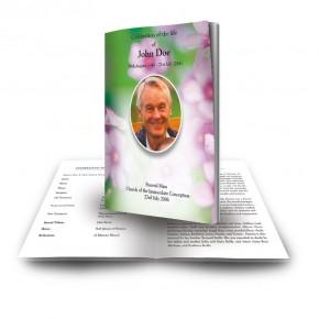 Pink Primroses Funeral Book