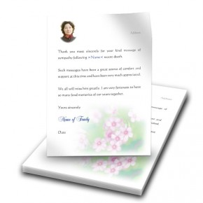 Pink Primroses Thank You Letter