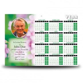 Pink Primroses Calendar Single Page