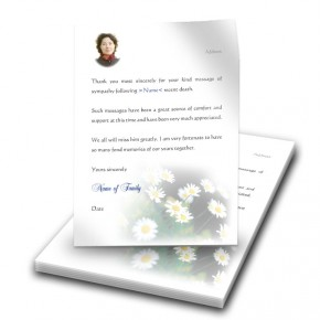 Daisies Thank You Letter