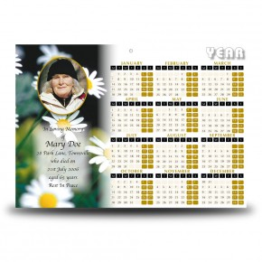Daisies Calendar Single Page