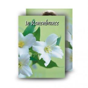 Wild Roses Standard Memorial Card