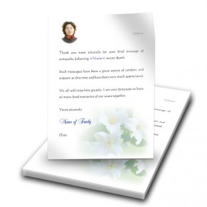 Wild Roses Thank You Letter