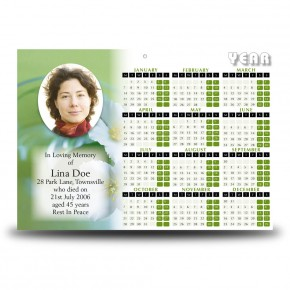 Wild Roses Calendar Single Page