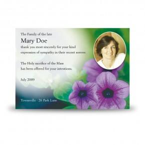 Purple Petunia Acknowledgement Card