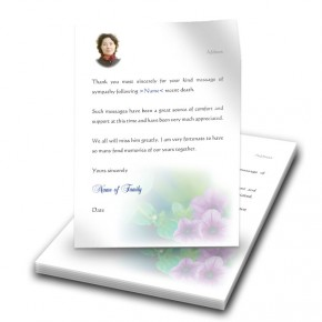 Purple Petunia Thank You Letter