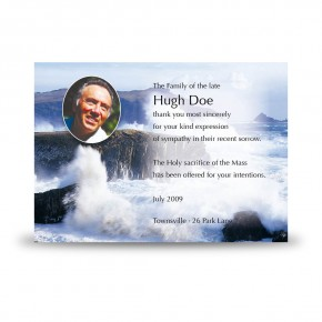 Breaking Waves of Donegal Acknowledgement Card