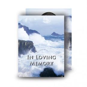 Breaking Waves of Donegal Standard Memorial Card