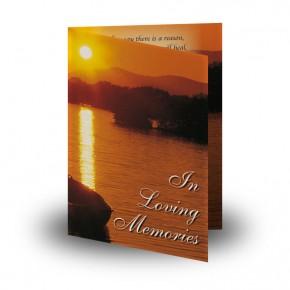 Lough Lomand Scotland Folded Memorial Card