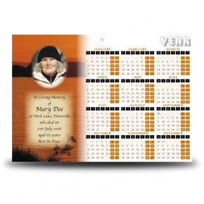 Lough Lomand Scotland Calendar Single Page