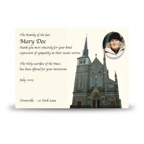 St Michaels Church Enniskillen Acknowledgement Card