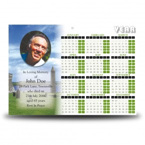 Devenish Island Co Fermanagh Calendar Single Page