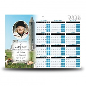 Devenish Island Co Fermanagh Calendar Single Page