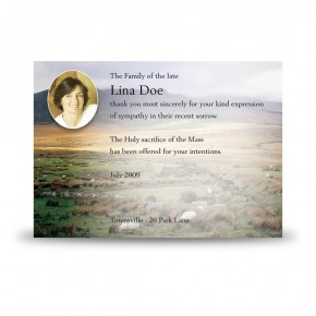 Mountain Field & Sheep Co Wicklow Acknowledgement Card