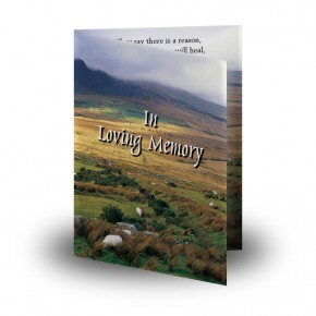 Mountain Field & Sheep Co Wicklow Folded Memorial Card