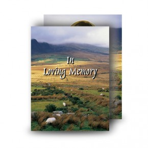 Mountain Field & Sheep Co Wicklow Standard Memorial Card