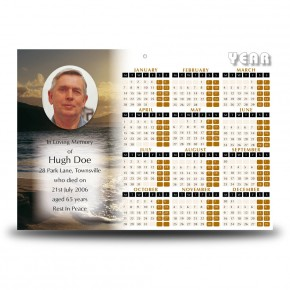 Golden Sea Shore Co Derry Calendar Single Page
