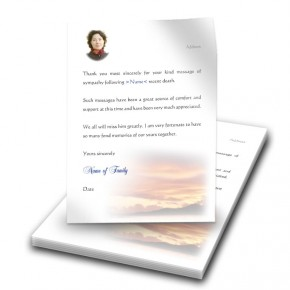 Lake Sunset Co Westmeath Thank You Letter