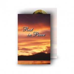 Lake Sunset Co Westmeath Wallet Card