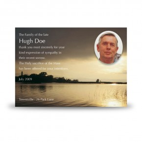 Dawn over Lake Co Cavan Acknowledgement Card