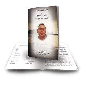 Dawn over Lake Co Cavan Funeral Book