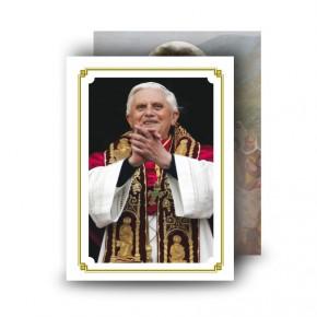Pope Benedict Standard Memorial Card