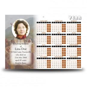 Pope Benedict Calendar Single Page