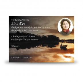 Upper Lough Erne Sunset Co Fermanagh Acknowledgement Card