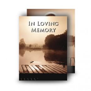 Misty Scene Standard Memorial Card