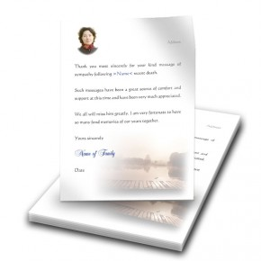 Misty Scene Thank You Letter