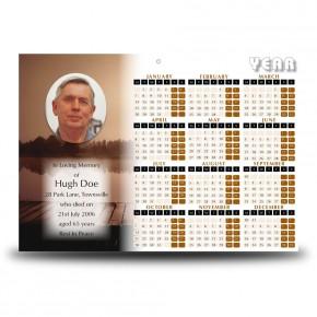 Misty Scene Calendar Single Page