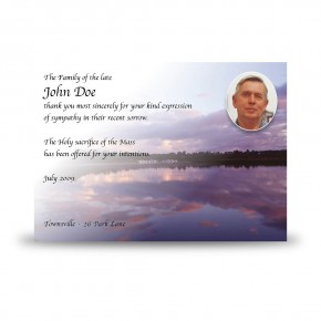 Lower Lough Erne Sunrise Co Fermanagh Acknowledgement Card
